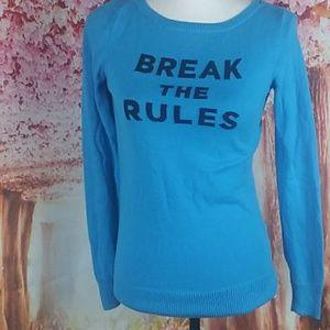 Lilly pulitzer grachic sweater blue break the rule